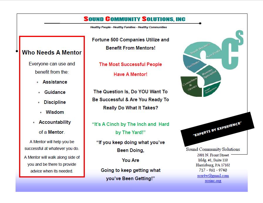 Mentoring Program Brochure 2